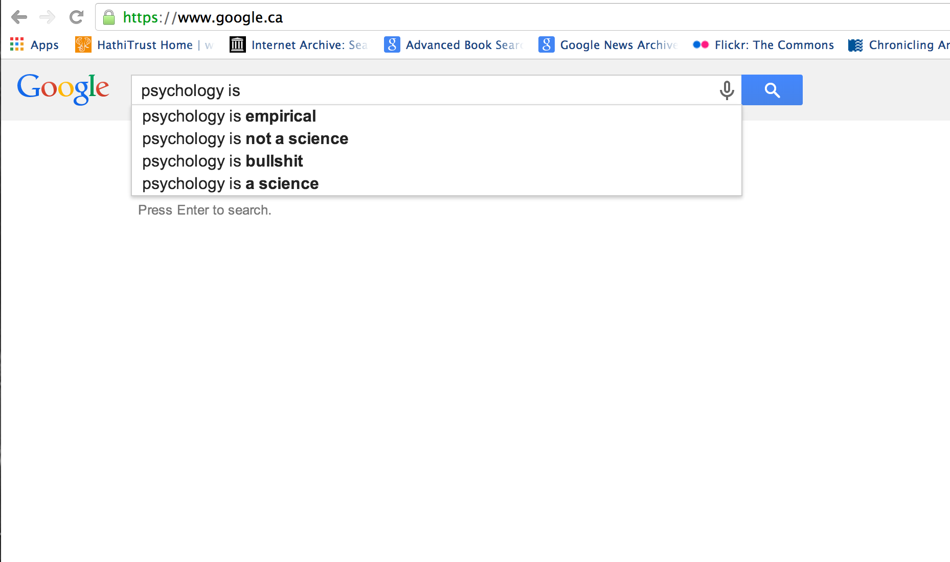 Psychology is… A Google Autocomplete Adventure | Advances in